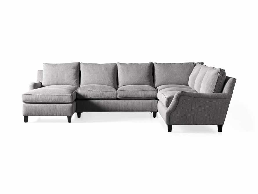 "Paxton Upholstered 138"" Right Arm Three Piece Sectional, slide 6 of 6"