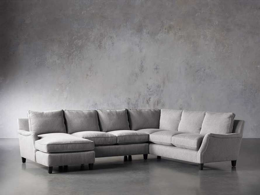 "Paxton Upholstered 138"" Right Arm Three Piece Sectional, slide 3 of 6"