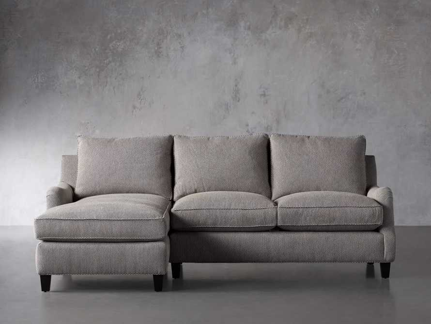 """Paxton Upholstered 99"""" Left Arm Two Piece Chaise Sectional, slide 2 of 6"""