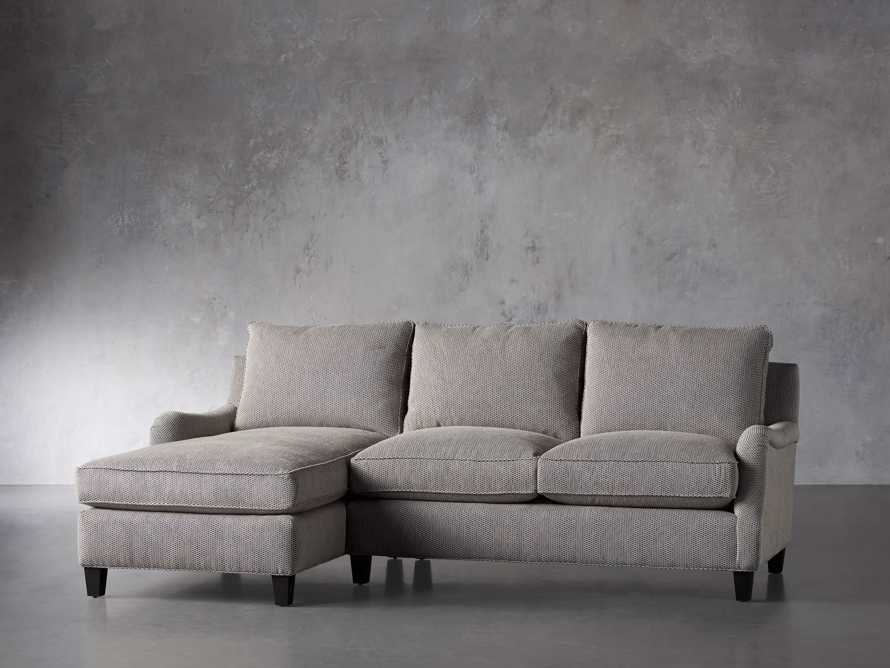 """Paxton Upholstered 99"""" Left Arm Two Piece Chaise Sectional, slide 3 of 6"""