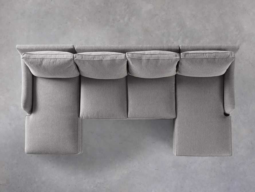 """Paxton Upholstered 130"""" Double Chaise Sectional, slide 5 of 6"""