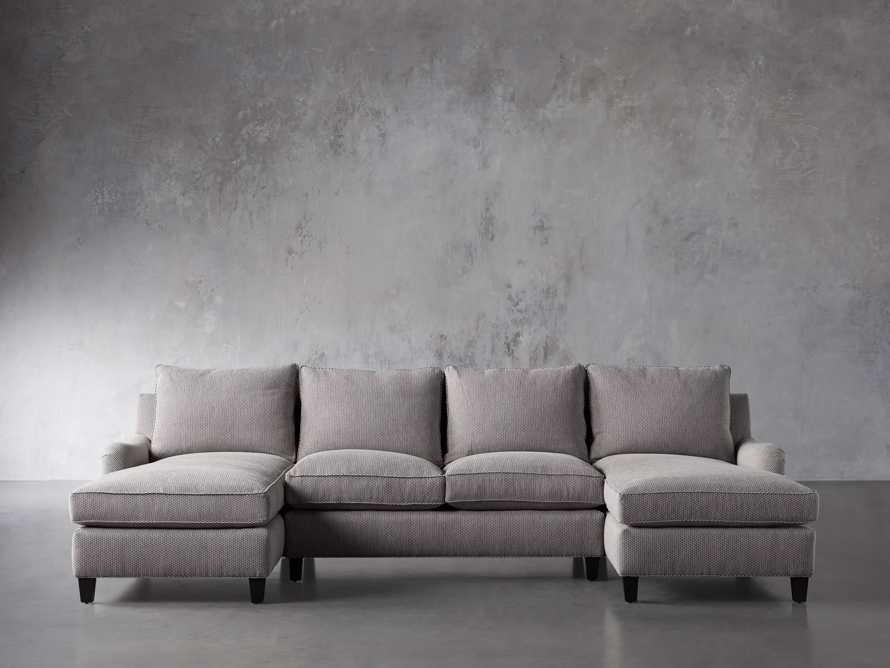 """Paxton Upholstered 130"""" Double Chaise Sectional, slide 2 of 6"""