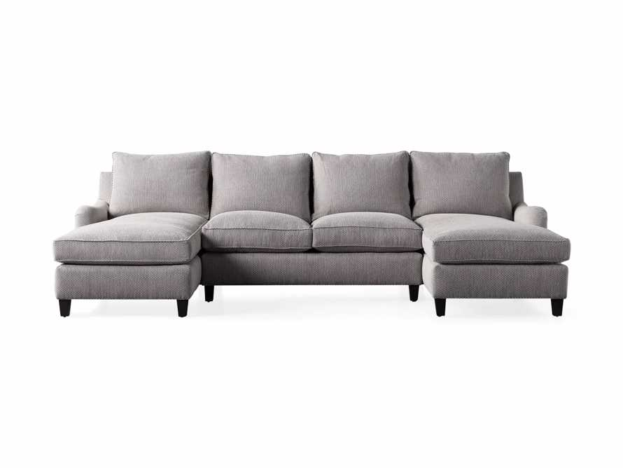 """Paxton Upholstered 130"""" Double Chaise Sectional, slide 6 of 6"""