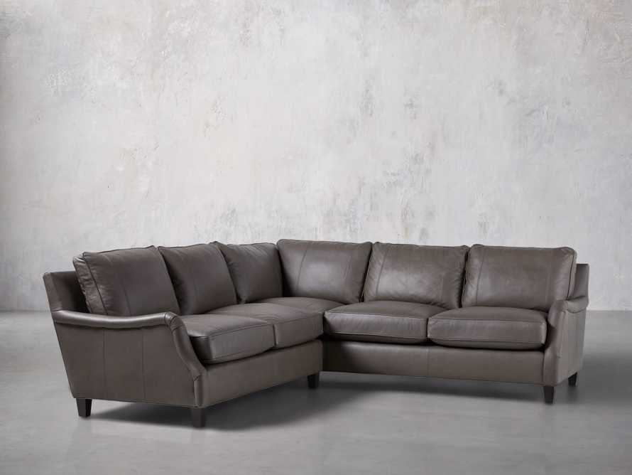 "Paxton Leather 104"" Two Piece Sectional"