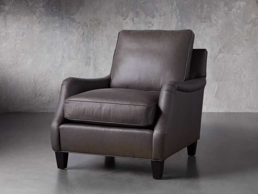 "Paxton Leather 35"" Chair, slide 3 of 7"