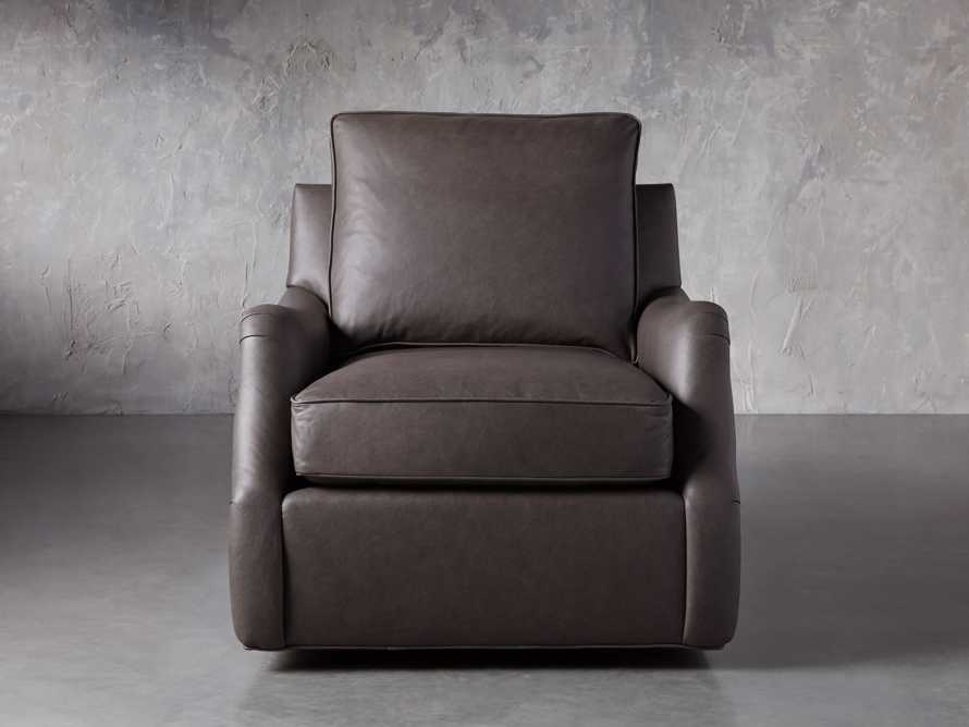 "Paxton Leather 35"" Swivel Chair, slide 2 of 8"