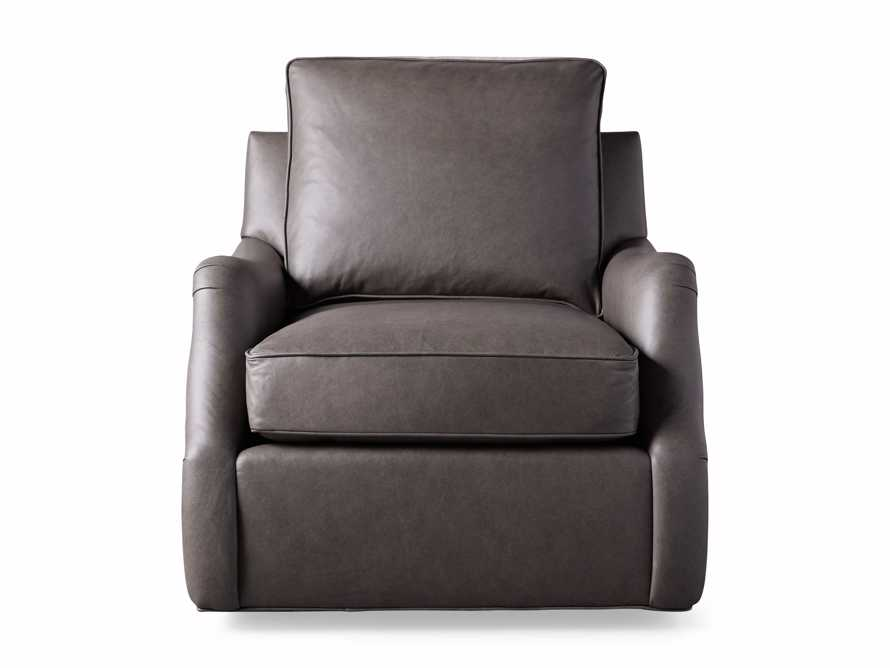 "Paxton Leather 35"" Swivel Chair, slide 7 of 8"