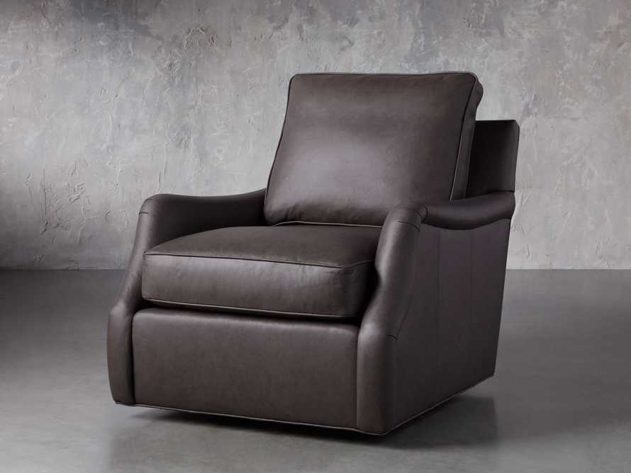 "Paxton Leather 35"" Swivel Chair, slide 3 of 8"