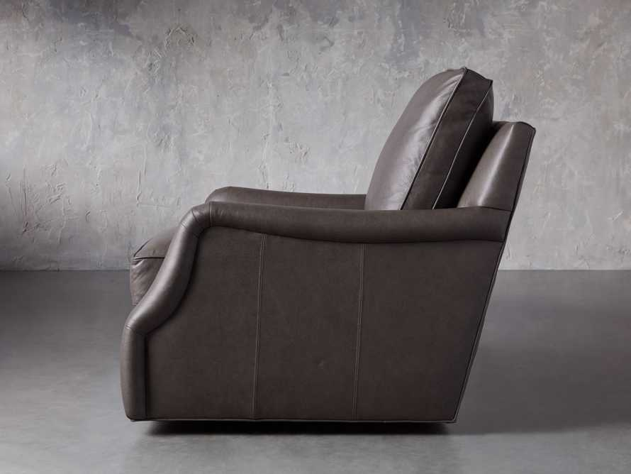 "Paxton Leather 35"" Swivel Chair, slide 4 of 8"
