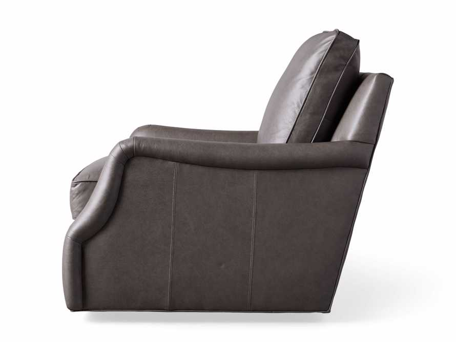 "Paxton Leather 35"" Swivel Chair, slide 8 of 8"