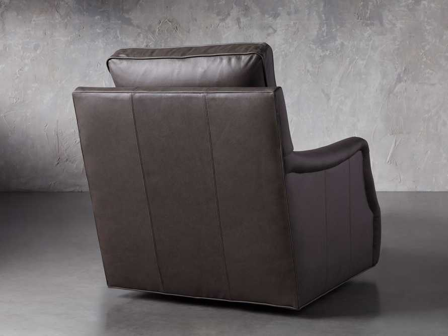 "Paxton Leather 35"" Swivel Chair, slide 5 of 8"