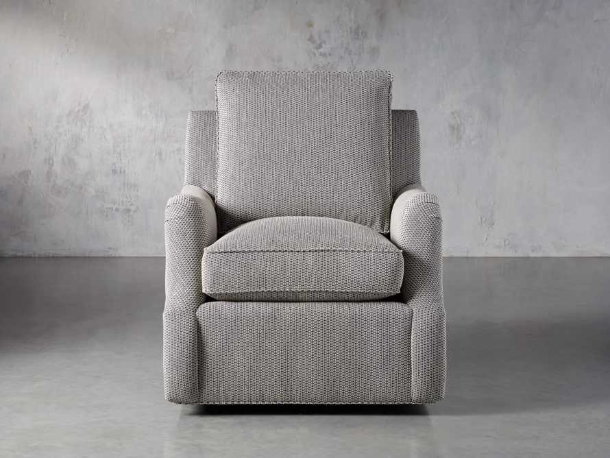 "Paxton Petite Upholstered 32"" Swivel Chair, slide 2 of 8"