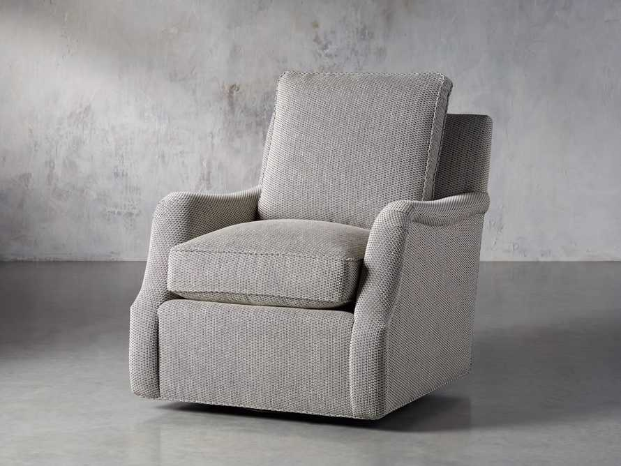 "Paxton Petite Upholstered 32"" Swivel Chair, slide 3 of 8"