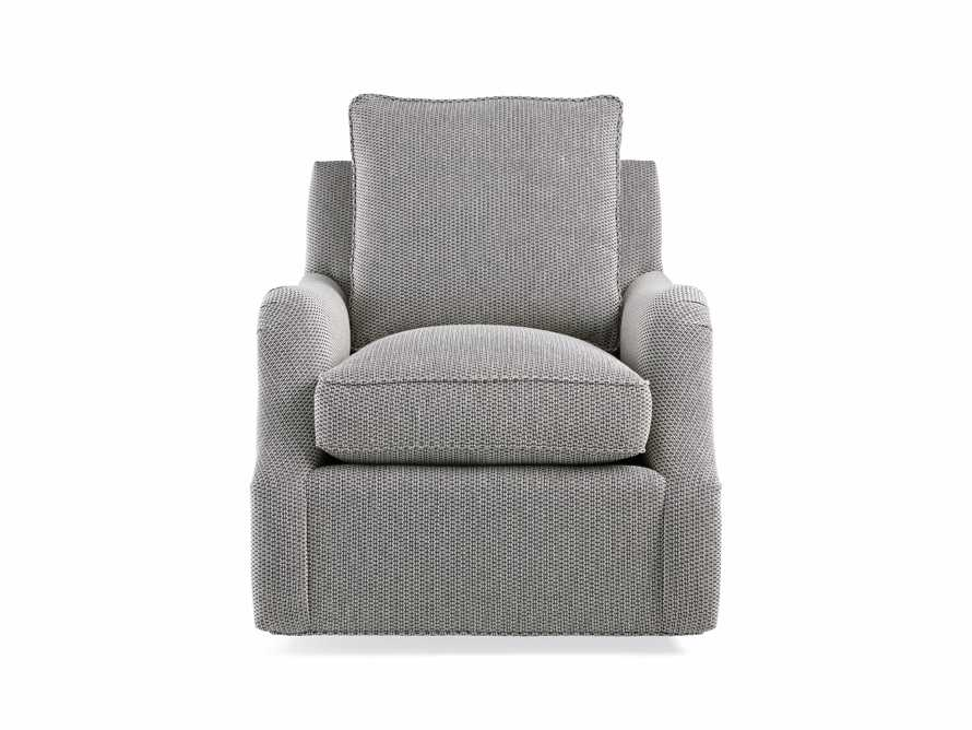 "Paxton Petite Upholstered 32"" Swivel Chair, slide 8 of 8"