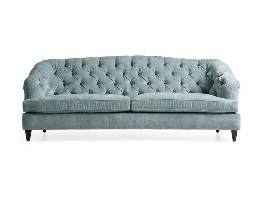 "Maeve Upholstered 99"" Tufted Sofa in America Sky, slide 7 of 9"