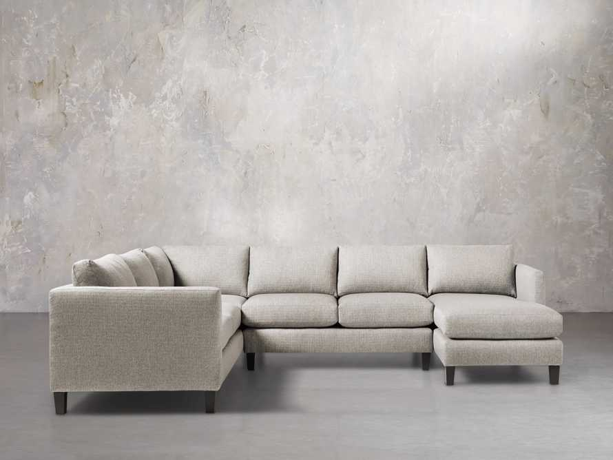 """Taylor 124"""" Upholstered Three Piece Reverse Sectional, slide 2 of 5"""