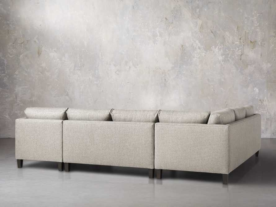 """Taylor 124"""" Upholstered Three Piece Reverse Sectional, slide 4 of 5"""