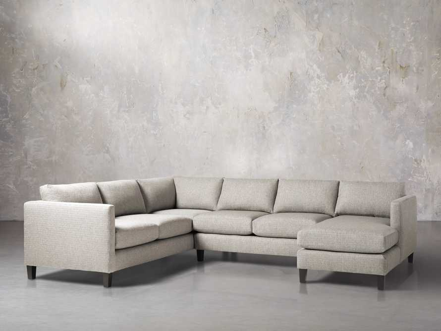 """Taylor 124"""" Upholstered Three Piece Reverse Sectional, slide 3 of 5"""