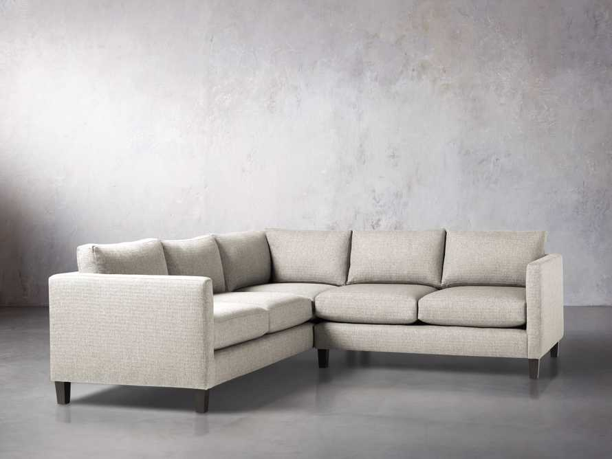 "Taylor 98"" Upholstered Two Piece Sectional in Howell Mist"