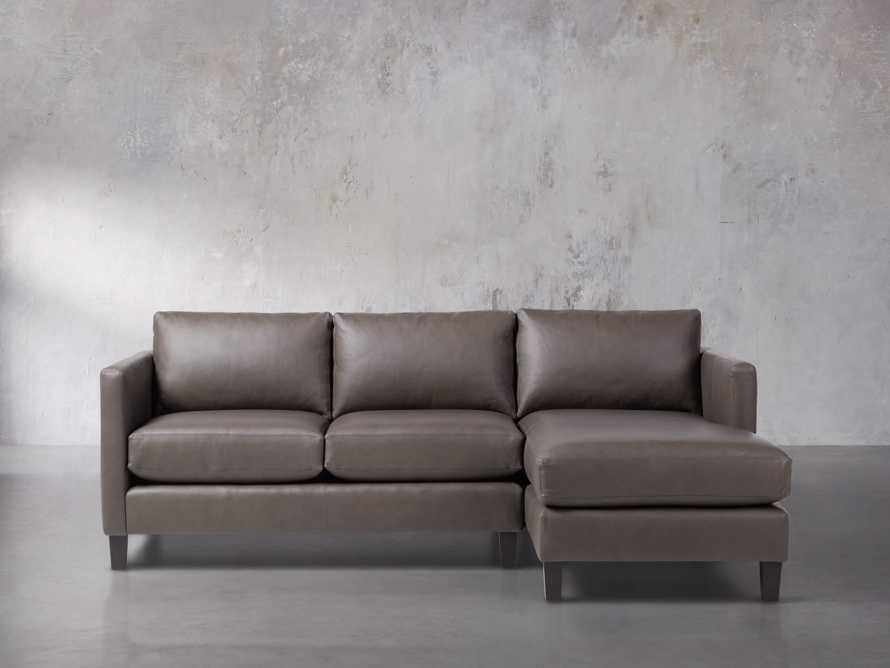 "Taylor 92"" Leather Two Piece Sectional, slide 2 of 5"