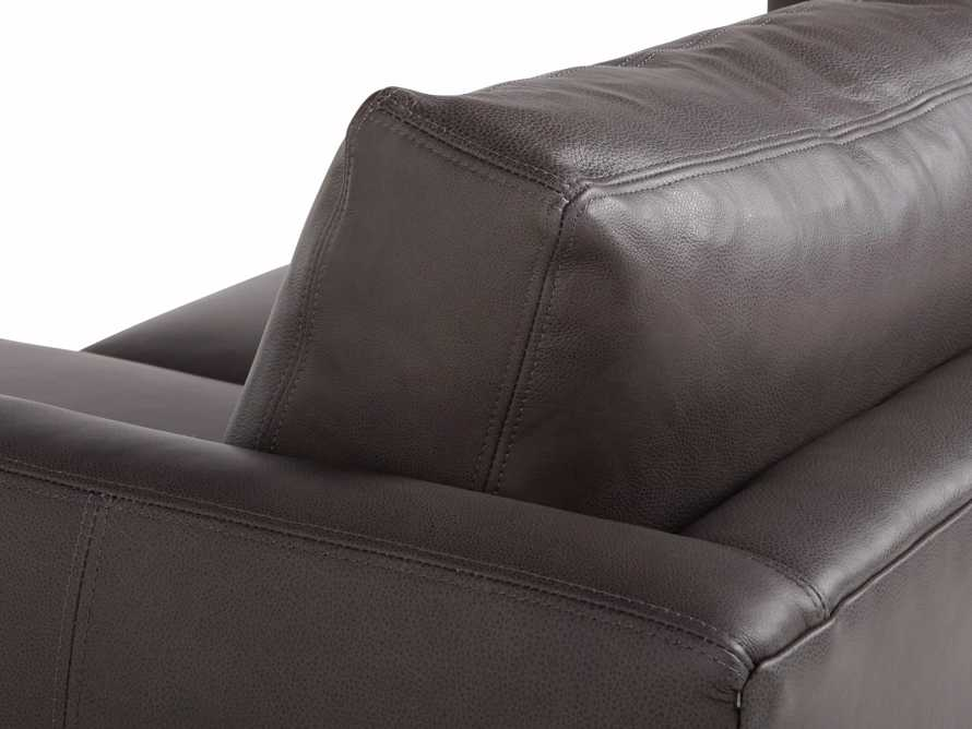 "Taylor 92"" Leather Two Piece Sectional, slide 5 of 5"