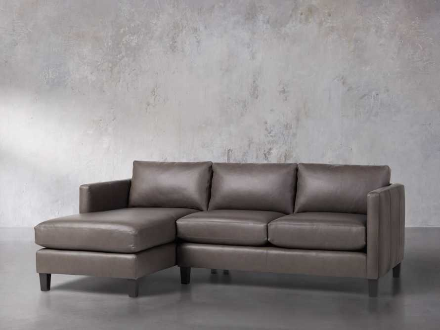 "Taylor 92"" Leather Two Piece Sectional, slide 3 of 5"