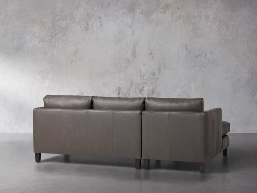"Taylor 92"" Leather Two Piece Sectional, slide 4 of 5"
