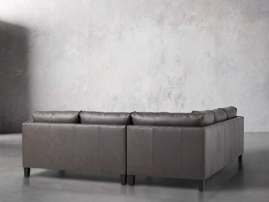 "Taylor 98"" Leather Two Piece Sectional"