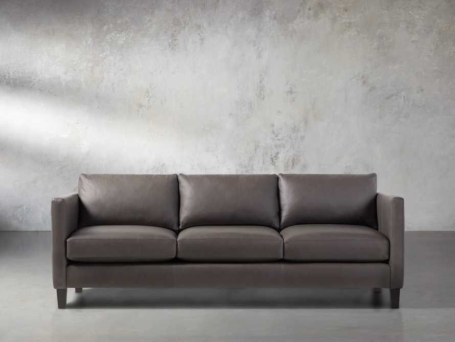 "Taylor 90"" Leather Sofa, slide 2 of 6"