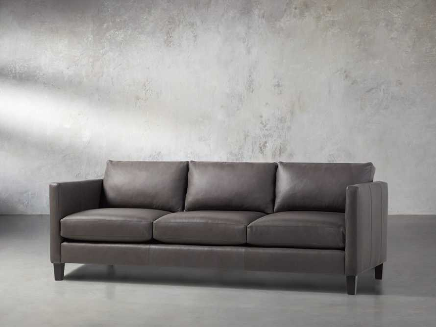"Taylor 90"" Leather Sofa, slide 3 of 6"