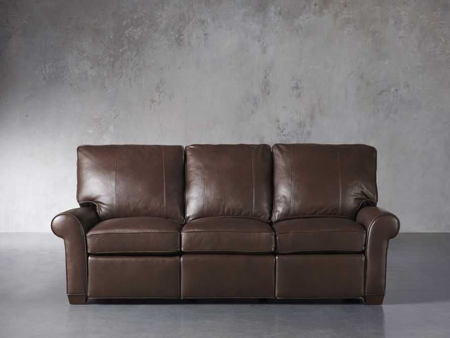 "Brentwood Leather 92"" Sofa (Right & Left Motion), slide 2 of 9"
