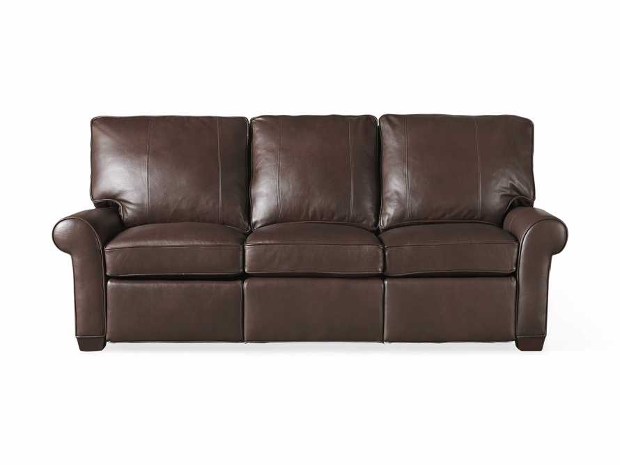 "Brentwood Leather 92"" Sofa (Right & Left Motion), slide 8 of 9"