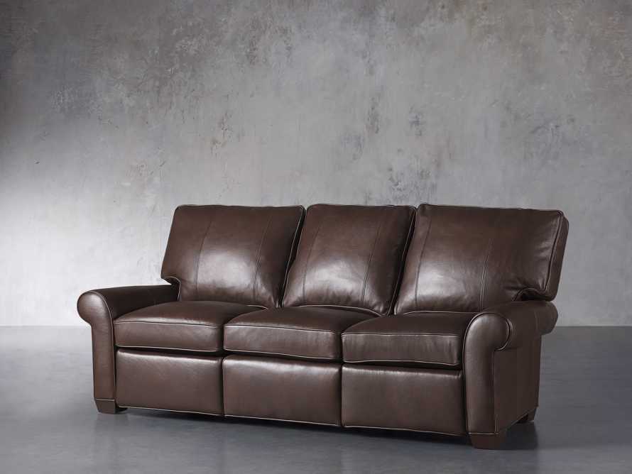 "Brentwood Leather 92"" Sofa (Right & Left Motion), slide 3 of 9"
