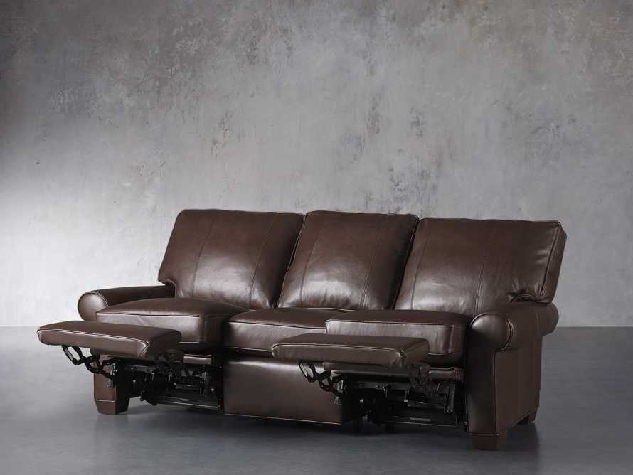 "Brentwood Leather 92"" Sofa (Right & Left Motion), slide 4 of 9"