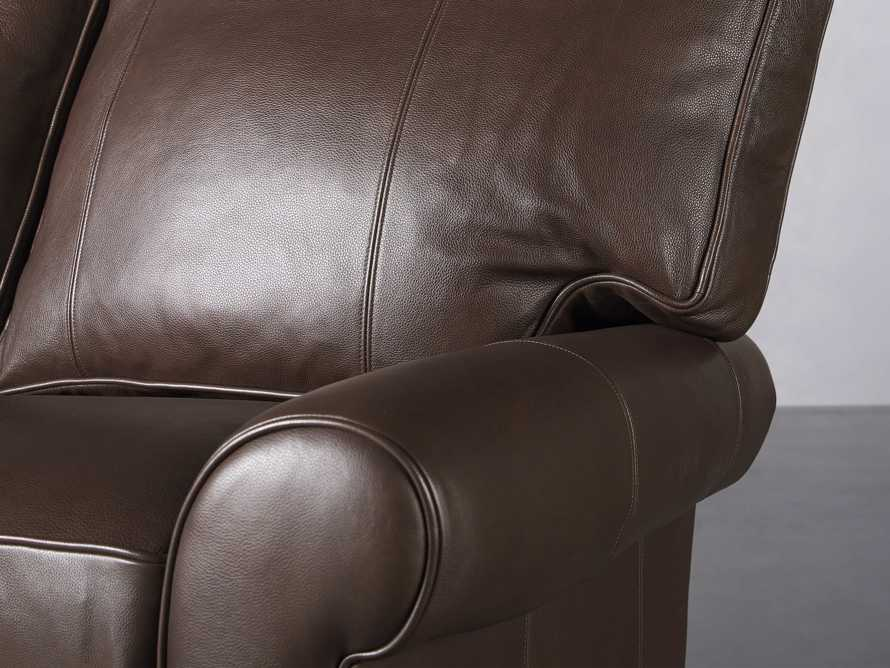 "Brentwood Leather 92"" Sofa (Right & Left Motion), slide 7 of 9"