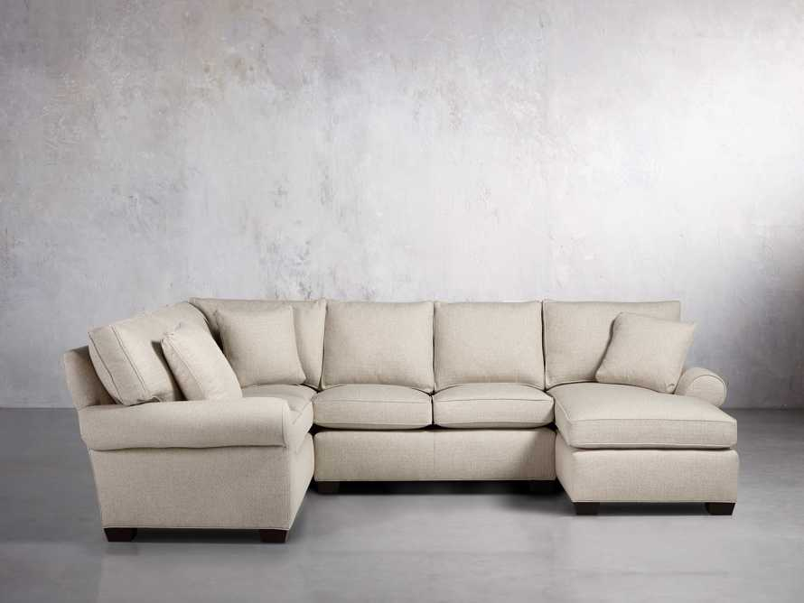 "Brentwood Upholstered 124"" Left Arm Sectional, slide 2 of 6"