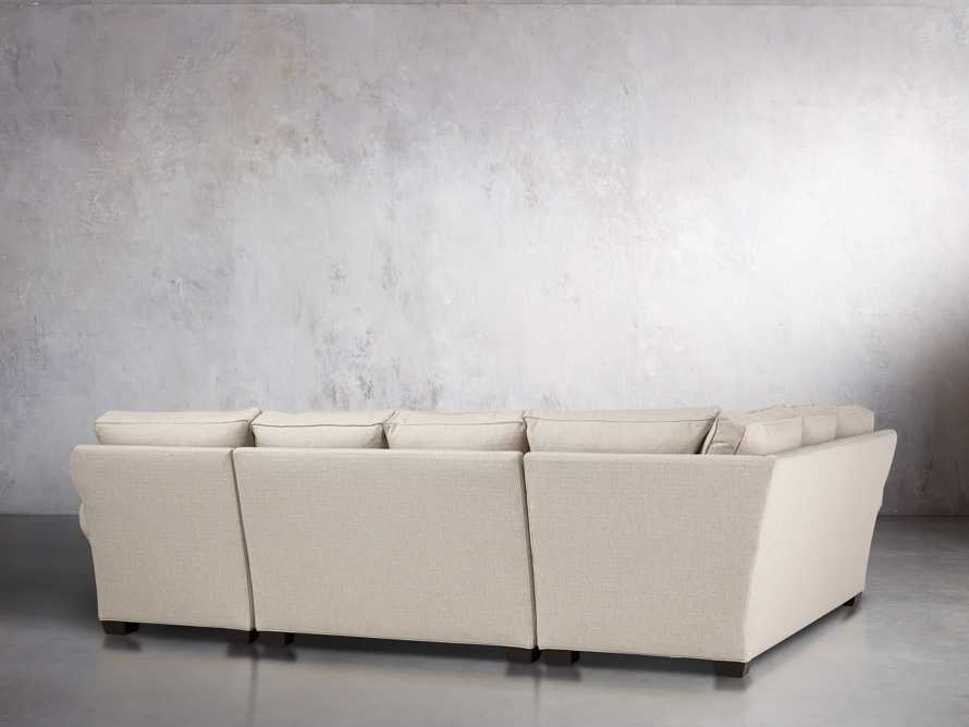 "Brentwood Upholstered 124"" Left Arm Sectional, slide 3 of 6"