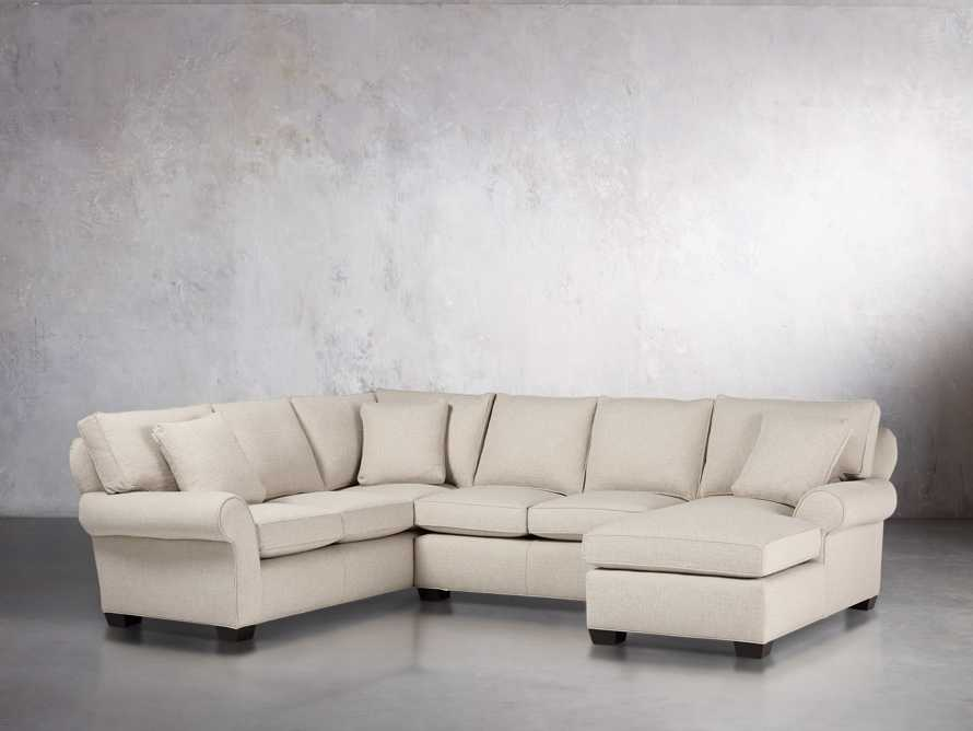 "Brentwood Upholstered 124"" Left Arm Sectional, slide 4 of 6"