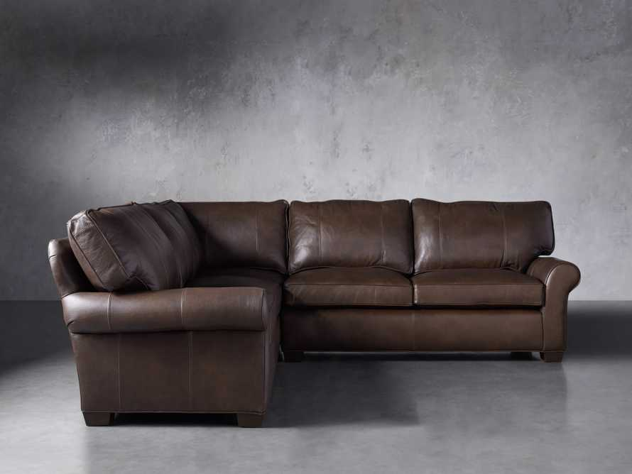 "Brentwood Leather 111"" Three Piece Corner Sectional, slide 4 of 9"