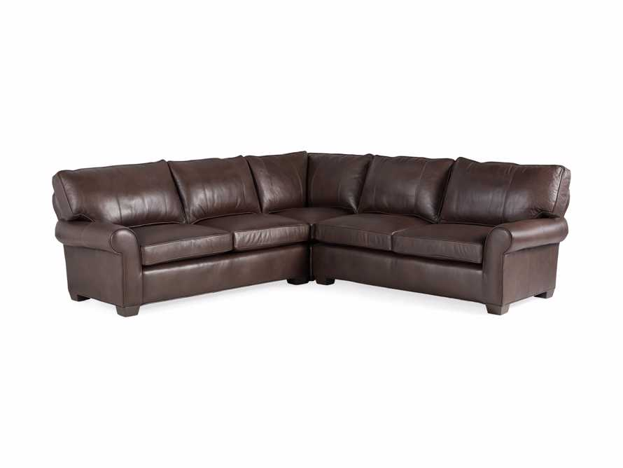 "Brentwood Leather 111"" Three Piece Corner Sectional, slide 9 of 9"