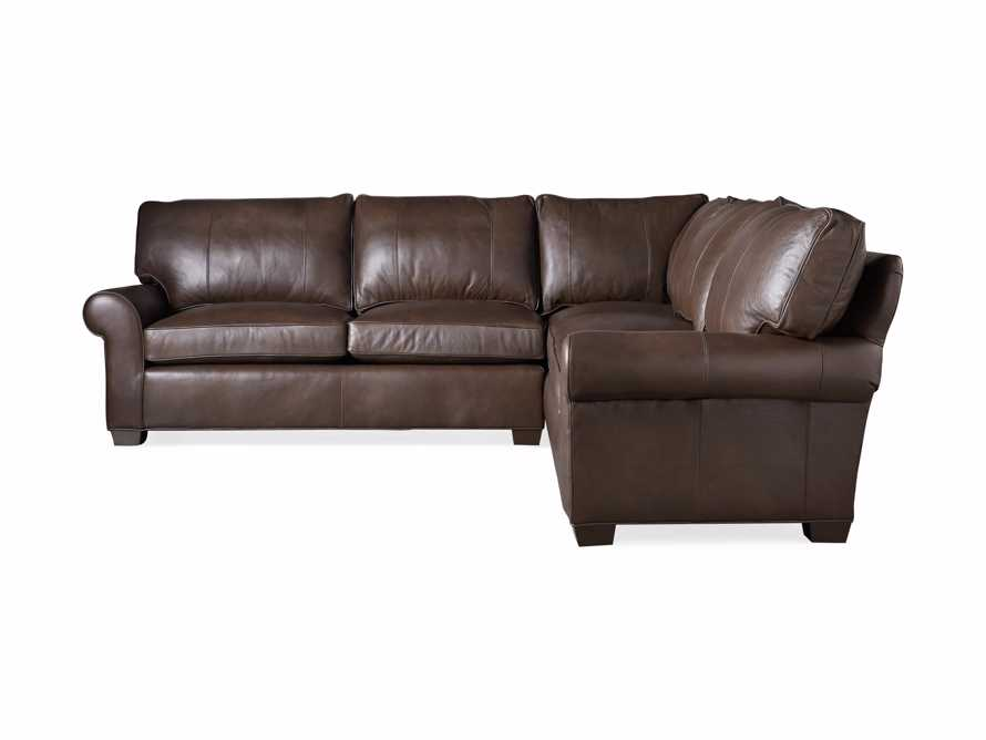 """Brentwood Leather 111"""" Three Piece Corner Sectional, slide 7 of 8"""