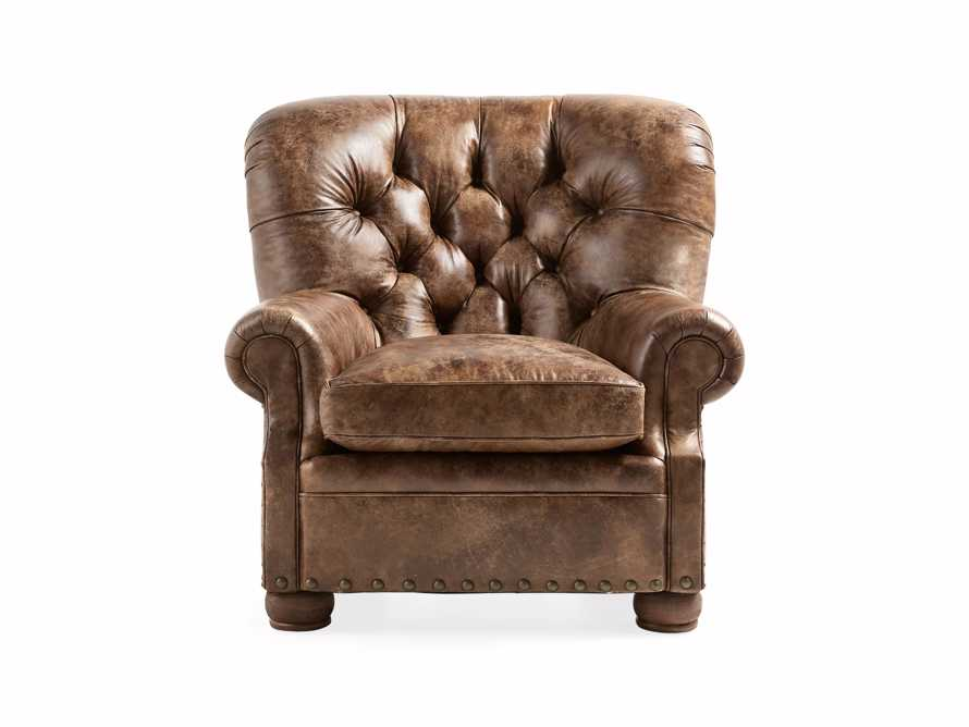"Beacon 41"" Leather Tufted Chair, slide 2 of 7"