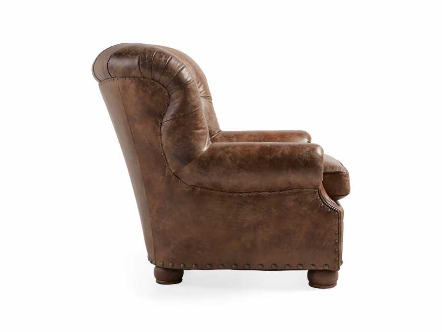 "Beacon 41"" Leather Tufted Chair, slide 4 of 7"
