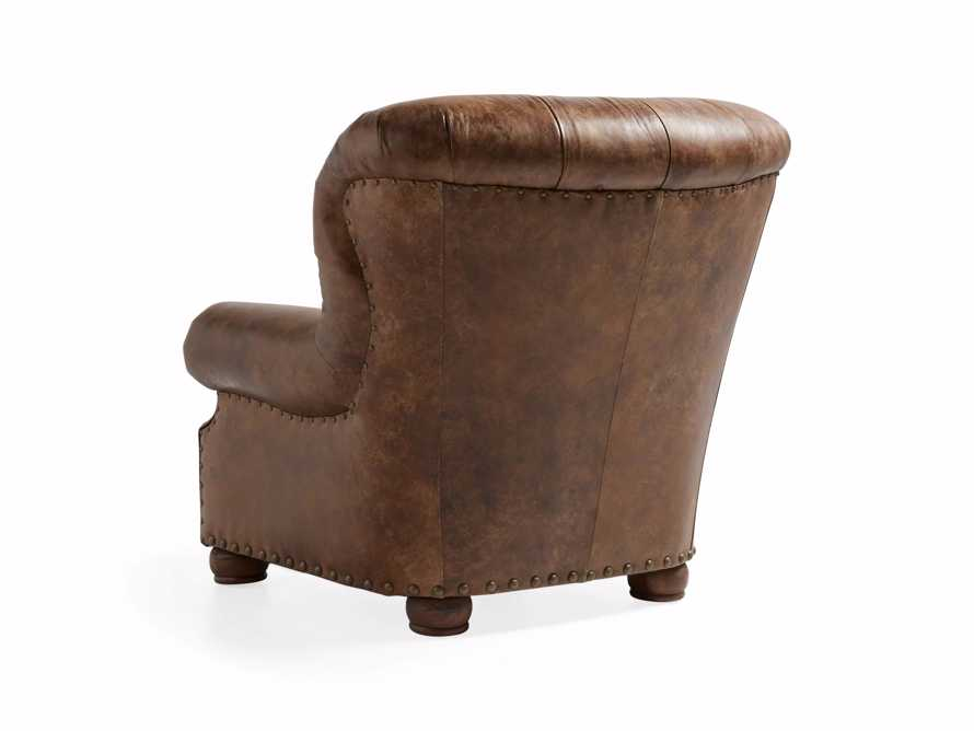 "Beacon 41"" Leather Tufted Chair, slide 5 of 7"
