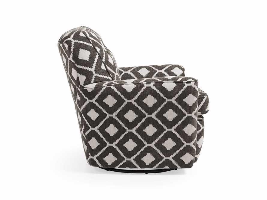 """Denton Upholstered 35"""" Swivel Chair"""