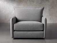 """Dunlap Upholstered 41"""" Swivel Chair"""