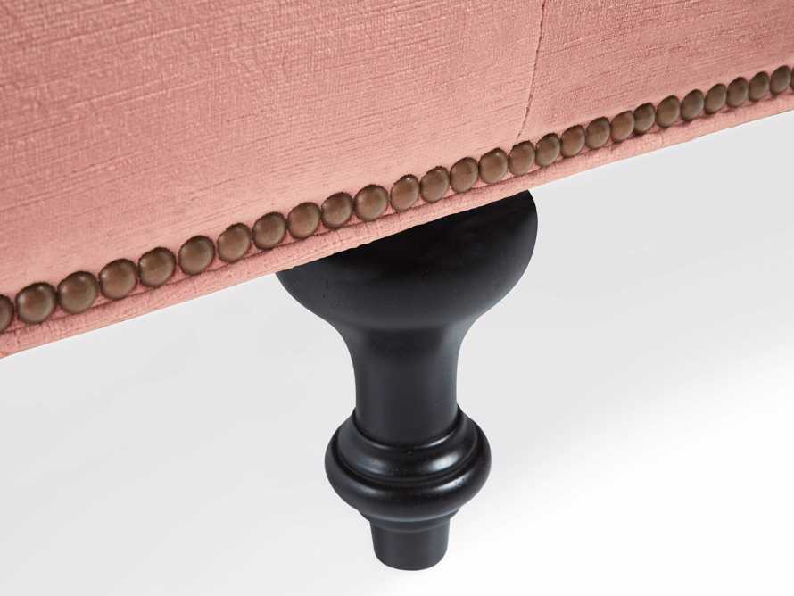 "Fiona Cushion 97"" Upholstered Tufted Sofa in Brussels Rosewood, slide 7 of 8"