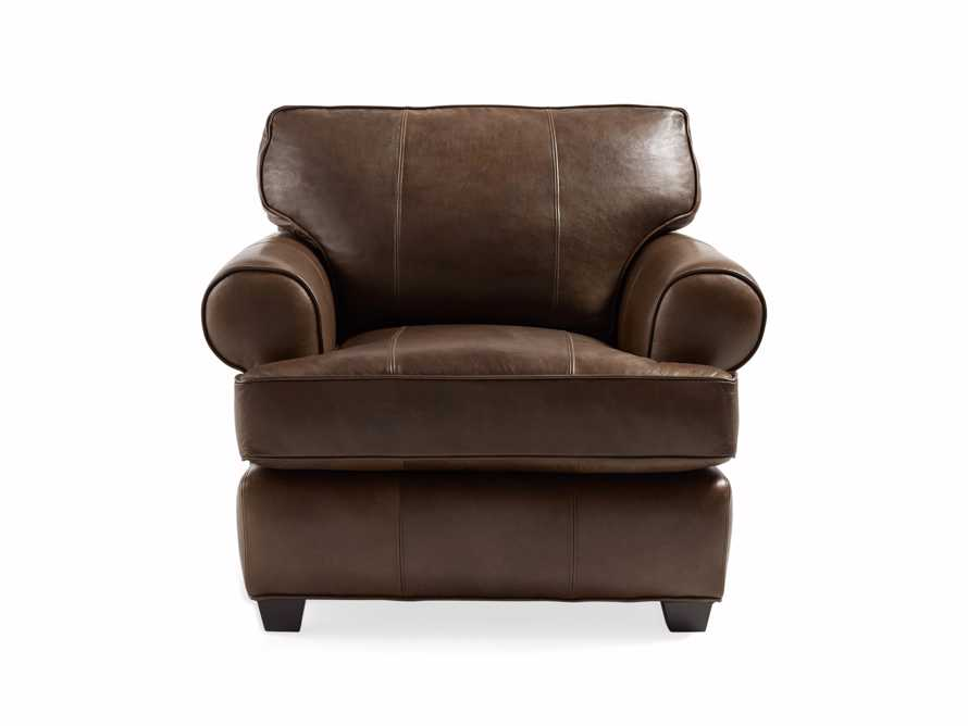 "Hadley 42"" Leather Chair in Anilina Hazelnut, slide 2 of 6"