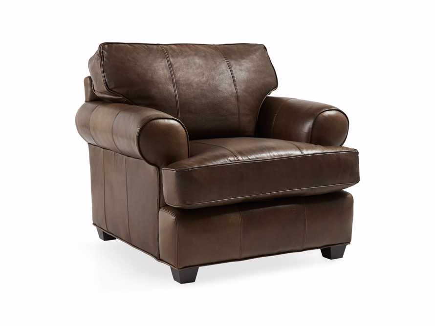 "Hadley 42"" Leather Chair in Anilina Hazelnut, slide 3 of 6"