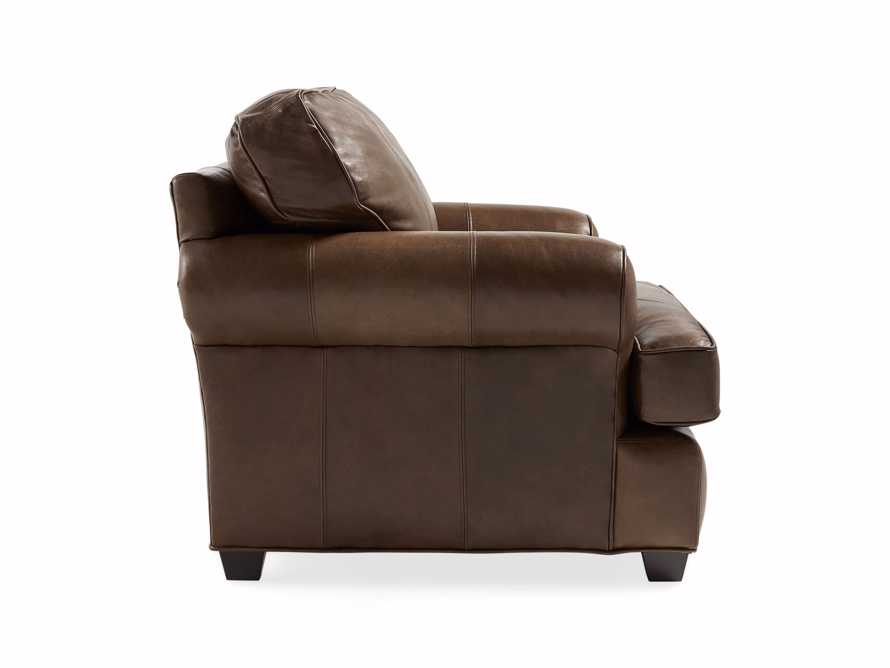"Hadley 42"" Leather Chair in Anilina Hazelnut"